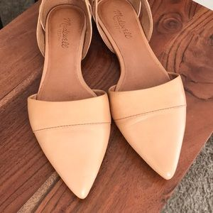 Madewell d'orsay flat in leather in brown